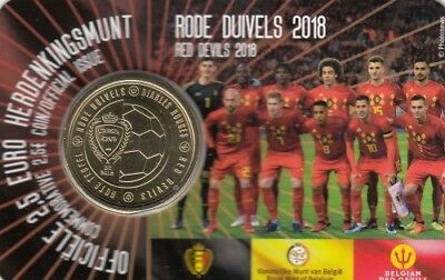 "Belgien 2018 Coincard 2,50 Euro ""The Red Devils"" - flämische Version"