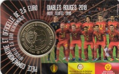 "Belgien 2018 Coincard 2,50 Euro ""The Red Devils"" - wallonische Version"