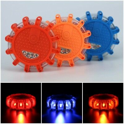 LED Road Flares Flashing Warning Roadside Safety Light Car Truck Emergency Disc