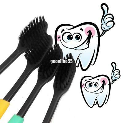 3pcs Adult Bamboo Charcoal Toothbrush Ultra Soft Tooth Cleaning Brush EA9