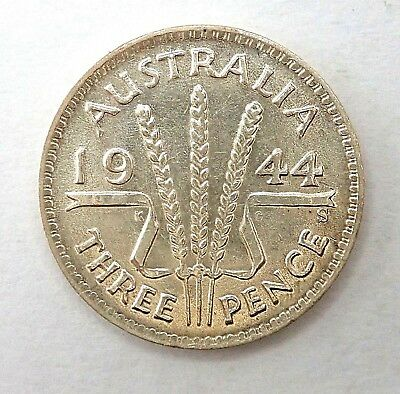 1944S   Threepence Coin  -  Ef  Condition