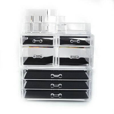 7 Drawers Makeup Organizer Acrylic Cosmetic Storage and Jewelry Display Case