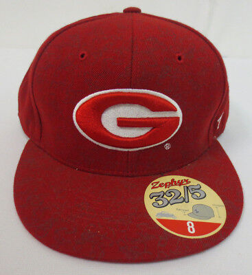 GEORGIA BULLDOGS BLACK NCAA VINTAGE FITTED SIZED ZEPHYR DH CAP HAT NWT!