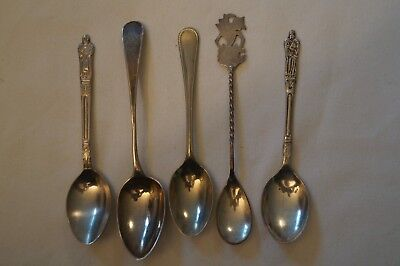 Spoon - Collectable - Vintage - Souvenirs - Group Lot of 5 - Various