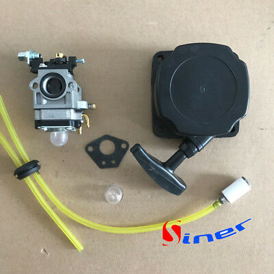 Recoil Starter Carburetor kit Earth Auger 300430 Earthquake E43 Power Head Mini