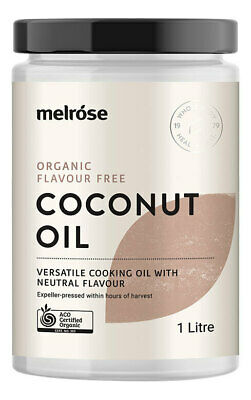 Organic Flavour Free Coconut Oil 1L - Melrose Health