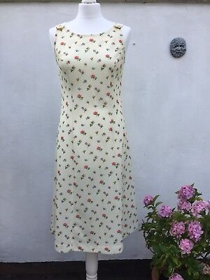 Vintage Dress Late 70's/early 80's Floral Retro True Vintage Slip Dress