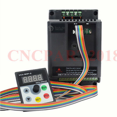 VFD Inverter 750W 1.5KW 2.2KW 3KW Variable Frequency Driver 5M Panel Cable 220V