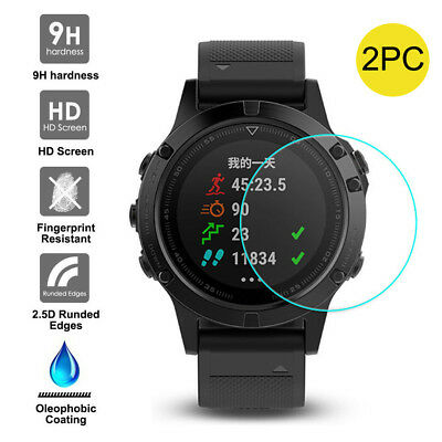 9H+ Tempered Glass Screen Protector Protective Film for Garmin Fenix 5 GPS Watch