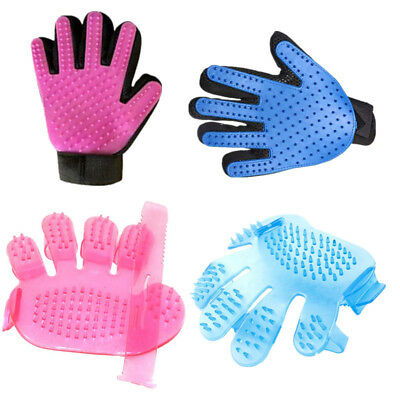 Pet Dog Cat Deshedding Bath Glove Combs Massage Hair Fur Cleaning Grooming Brush