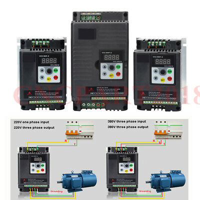 750W~7.5KW Variable Frequency Driver VFD Inverter 220V 380V Panel Control Cable