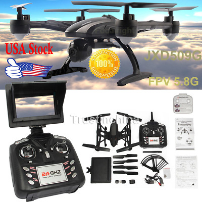 JXD 509G RC Drone Quadcopter with HD Monitor Camera 5.8G FPV Altitude Hold USA