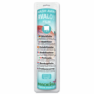 Avalon Wash Away Fabric Film 30Cm X 10M