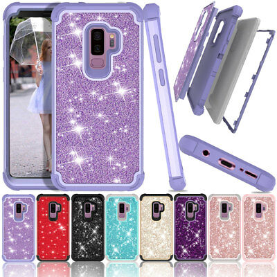 Luxury Glitter Shockproof Hybrid Tough Case Cover For Samsung Galaxy S9 S9 Plus