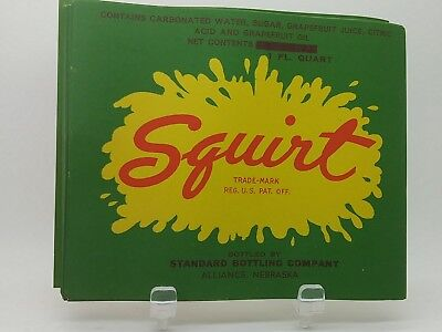 RARE SQUIRT SODA  ORIGINAL SODA  LABELS ON  25  Labels