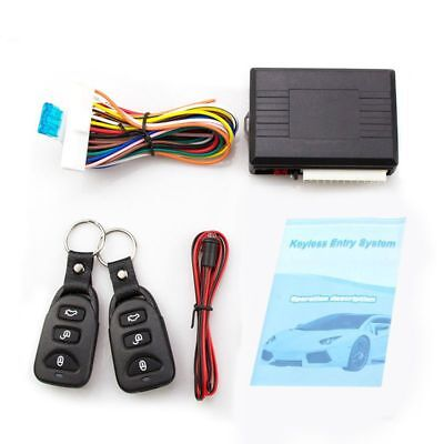 Universal Car Alarm Systems Auto Remote Central Kit Door Lock Keyless Entry S6J7