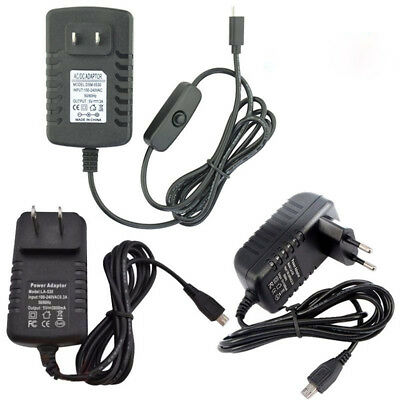 5V 3A Micro USB AC Adapter DC Wall Power Supply Charger for Tablet PC Phone Raki