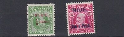Niue  1911   S G  17 - 18    Values To 6D    Mh