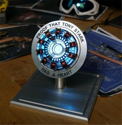 Iron Man Telecontrolled Reactor Pioneer LED Heart Light Model Decoration Toys