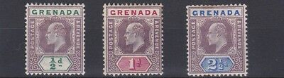 Grenada  1902       S G  57 - 60   Various Vallues  To 2 1/2D    Mh