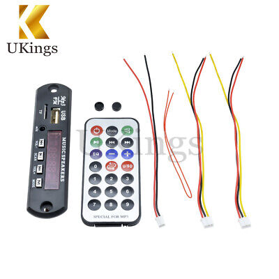 Wireless Bluetooth 12V MP3 WMA Decoder Board Audio Module USB TF Radio For Car K