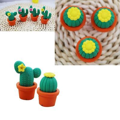 1Stk Funny Cactus Rubber Pencil Eraser Novelty Students kids Stationery Gift Toy