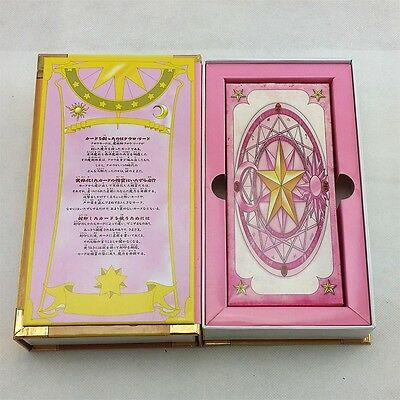 Card Captor Sakura 56 PCS Clow Cards With Pink Clow Magic Book Set New in Box