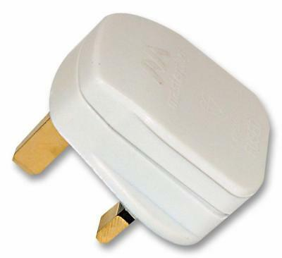 Mains Plug 3A Fused White - Pt133W