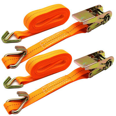 "1""X19.5' Tie-Down Straps Nylon Ratchet Tie Down Straps 6M x 25mm"