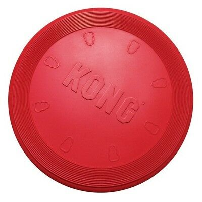 KONG Classic Flyer Frisbee Flexible Red Rubber Fetch Disc Play Dog Toy or Treats