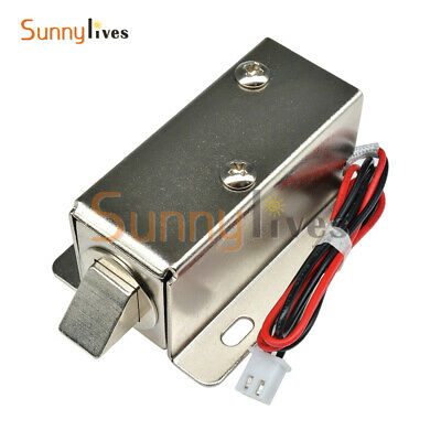 DC12V 0.6A Electric Solenoid Lock Tongue Upward Assembly for Door Cabinet Drawer