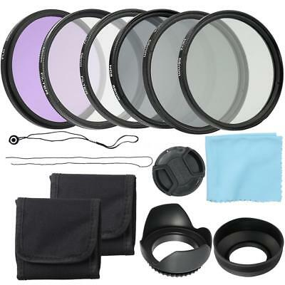 52mm CPL+UV+FLD Lens Filters Hood Cap Kit ND2 ND4 ND8 For Canon Nikon SLR Camera