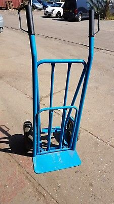 Blue Heavy Duty Folding and Fixed Toe Sack Wheels Used Once Great Condition