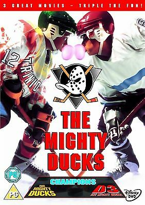 The Mighty Ducks Trilogy Complete Movies Film Collection 3 Discs Exrtra New DVD