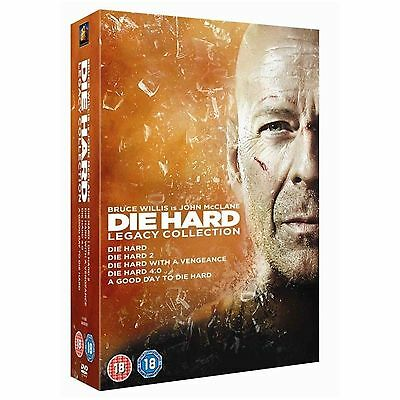 DIE HARD - Part 1 2 3 4 5 Complete Movie Collection Boxset + Extras New UK DVD