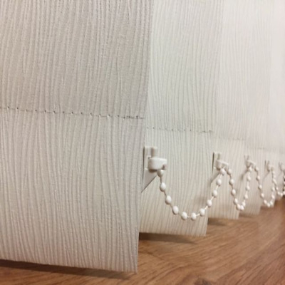 """Blackout Patterned/Textured Replacement Vertical Blinds Slats 89mm/3.5"""" (Lucca)"""