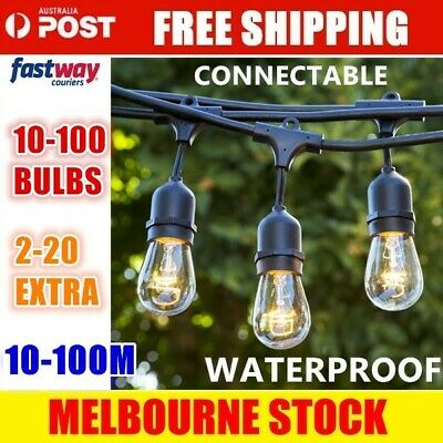 10-100PCS Festoon String Lights Wedding Party Christmas Vintage Retro In/Outdoor