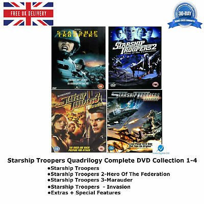 Starship Troopers Quadrilogy 1-4 Complete Collection 1 2 3 4 New UK Region 2 DVD