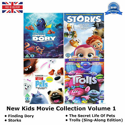 New Kids Movie Collection Volume 1 : Finding Dory / Storks + BONUS FEATURES DVD