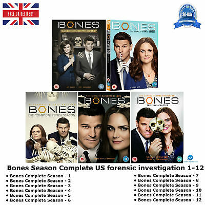 Bones Season Complete 1-12 forensic investigation Extended Unaired Episodes DVD