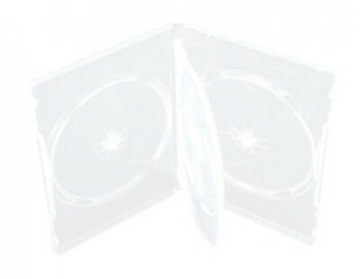 25 STANDARD Clear Quad 4 Disc DVD Cases