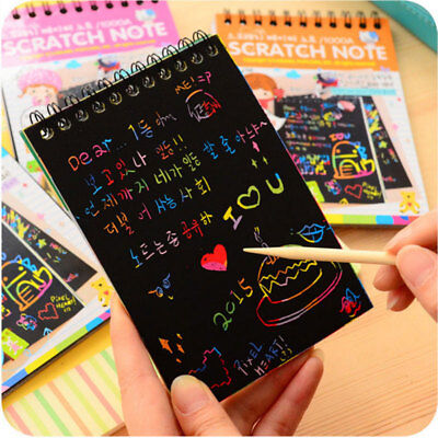 Magic Scratch Art Painting Book Paper Paintings Educational Playing Toys*