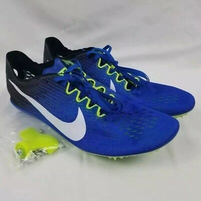 Nike Zoom Victory 3 Track Shoes Men s Sz 12 Blue Racing Spikes 835997-413 b58538e35