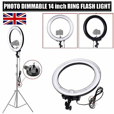 """75W 18"""" 600W 5500K Dimmable Ring Light Camera Fluorescent Flash Light Photograph"""