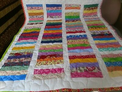 Girl Handmade Handcrafted Pieced Chinese Coin Baby Crib Throw lap Quilt