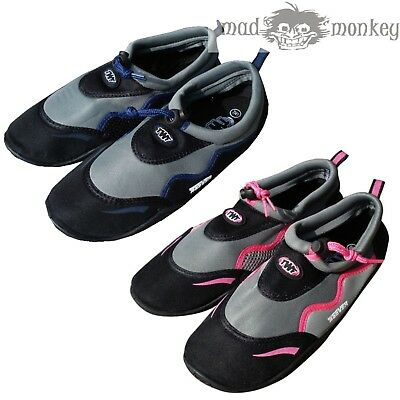 b5c0f497012983 TWF ADULT WEEVER BEACH SHOES - blue pink surf 6 7 8 9 10 11 12