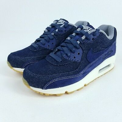NIKE AIR MAX 90 SE Women's Shoes Denim Blue White Gum 881105