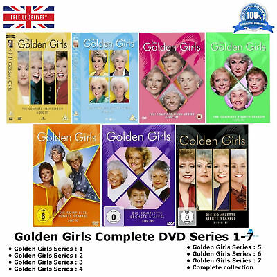 Golden Girls Series 1-7 Complete Collection 1 2 3 4 5 6 7 New UK Compatible DVD