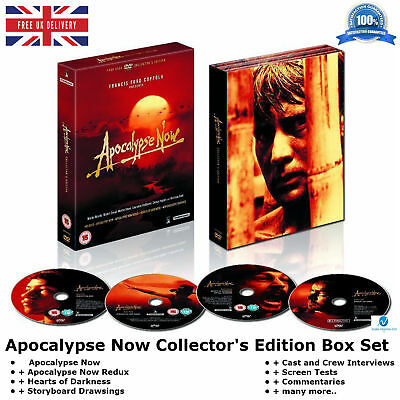 Apocalypse Now - Collector's Edition 4 Discs Box Set many more New Region 2 DVD