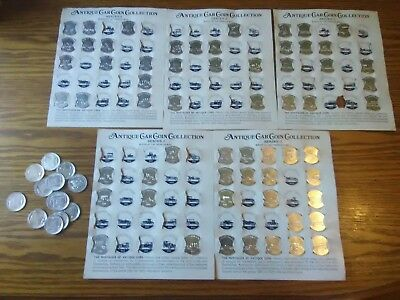 Sunoco Antique Car Coin Collection Series 2, Coins With Holders